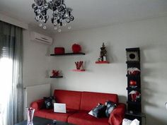 black n white and red all over my living room | favorite places