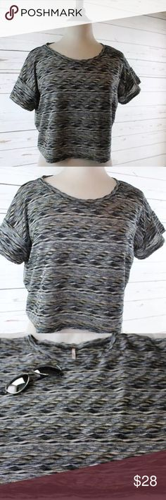 Free People Multi Color Striped Crop Top Size S You are looking at a women's boxy Free People crop top size Small. This top is the perfect compliment to a pair of high waisted jeans and a denim skirt. The color scheme is awesome as well with tans, blacks, blues and whites! With this top you get the sunnies featured for free with purchase. Made of 99% polyester and 1% spandex. In great condition! Comes with a free gift!   Comes from a smoke free and pet free home. Visit my shop for more great…