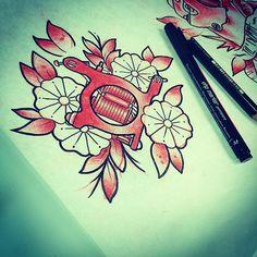 #flash #tattooflash #tattooart #sketch #draw #paint #traditional #tattoo #tattoos #traditionaltattoos #oldschool #tattoomachine