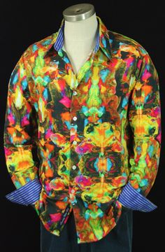 Rorschach RS101089 Stylish Men, Men Casual, Mens Hottest Fashion, Silk Shirts, Robert Graham, Long Shorts, White Man, Cool Shirts, Colorful Shirts