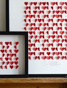 framed hearts - would make a great wedding gift with date and names on it!