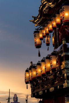 Temple Lanterns in Noto, Japan