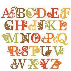 Fall Alphabet SVG scrapbook cut file cute clipart files for silhouette cricut pazzles free svgs free svg cuts cute cut files