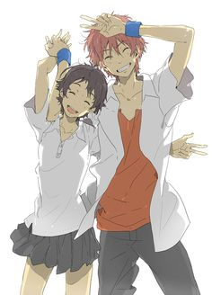 """Makoto and Chiaki from """"The Girl Who Leapt Through Time"""" (does anyone else think they look like haruhi and hikaru from Ouran High School Host Club?)"""