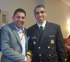 Elevate, Inc. President Aakash Patel with U.S. Surgeon General Dr. Vivek Murthy #ElevateTampa