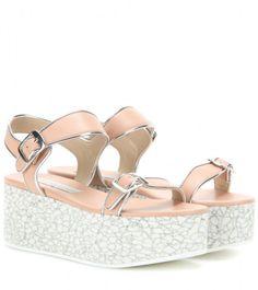 Stella Mccartney Platform Sandals in Pink | Lyst