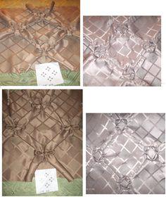 egy minta,a fonákján  2féle varrással  /színe és fonákja a képen/