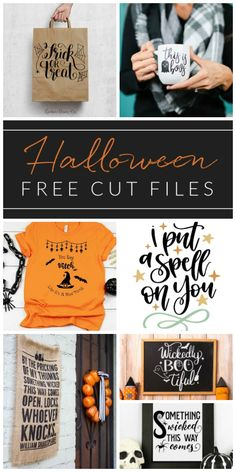 Form scary and spooky, to cute and whimsical, get your craft on and make a Cricut Halloween project using one of these FREE Halloween cut files! You are in the right place about diy halloween coffin H Halloween Fonts, Halloween Silhouettes, Halloween Pillows, Halloween Clipart, Easy Halloween, Halloween Coffin, Halloween Makeup, Halloween Costumes, Halloween School Treats