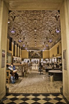 """""""University Library at UC Berkeley.basically my dream college library."""" I didn't know I had a dream college library until I saw this College Library, College Campus, College Life, Berkeley Library, Berkeley Campus, Berkeley California, Northern California, Berkeley Architecture, California"""