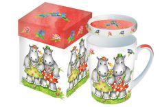 www.gifthaus.co.za Mr Smith Mug with Lid Tea Time, Porcelain, Mugs, Tableware, Porcelain Ceramics, Dinnerware, Tumblers, Tablewares, Mug