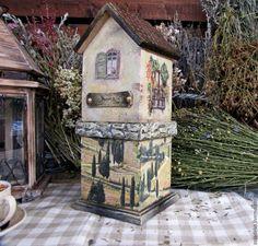 """Купить Чайный домик """"Прогулка по полям...где-то в Провансе"""" - оливковый, бежевый, чайный домик"""