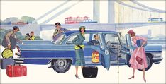 "Back to the USSR — Soviet car GAZ-13 ""Tchaika"" - illustration from a..."