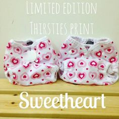 Just in time for V-Day! Limited edition Thirsties Sweetheart just arrived! Available in limited quantities in Snap and Aplix in the Duo Wrap.