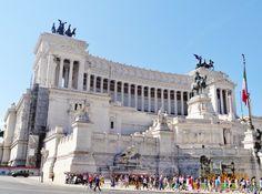 The Altare della Patria also known as the Monumento Nazionale a Vittorio Emanuele II  at Rome
