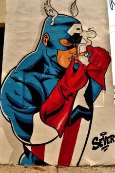 Super Hero Street Art