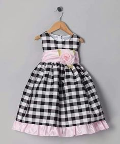 Take a look at this Ella & Dax Black Rose Gingham Dress - Infant, Toddler & Girls by Rim Zim Kids, Barrel and Ella & Dax on today! Cute Girl Dresses, Toddler Girl Dresses, Little Girl Dresses, Toddler Girl Style, Toddler Girls, Kids Frocks, Princess Outfits, Gingham Dress, Cute Outfits For Kids