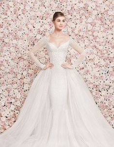 101 Adorable Long-Sleeved Wedding Dresses   HappyWedd.com