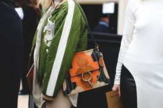 How French Girls Do Street Style For Fashion Week  #refinery29  http://www.refinery29.com/2016/03/105661/paris-fashion-week-fall-winter-2016-street-style-pictures#slide-55  A Gucci bag made for Marcia Brady....