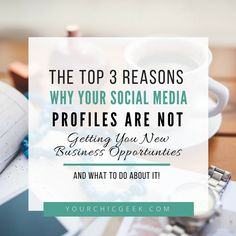 Great social media profiles can play a role in getting new business opportunities or not. This post covers 3 reasons why people dont pay attention to yours #smallbiz #socialmedia #blogger