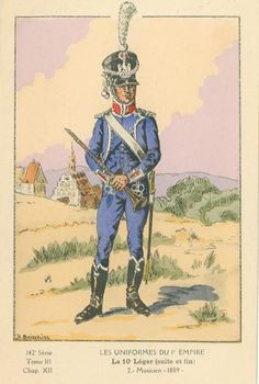 French; 10th Light Infantry, Musician, 1809.
