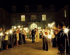 sparklers send away! I love sparklers! Wedding Events, Wedding Reception, Our Wedding, Dream Wedding, Wedding Bells, Sparkler Wedding, Wedding Stuff, Geek Wedding, Gatsby Wedding
