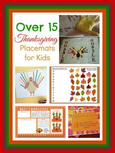 Inspiration and ideas for Thanksgiving placemats the kids can make. A post from Seattle area family lifestyle blog Long Wait For Isabella.