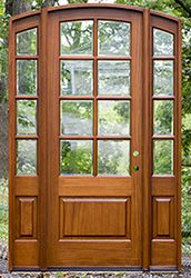 Get high quality and cost effective arched doors at Nick's. Round top entry doors in stock with wholesale prices and fast shipping. Exterior Doors, Interior And Exterior, Interior Ideas, Double Front Entry Doors, Doors Online, Arched Doors, Wooden Doors, Door Design, French Doors