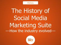 The History of Social Media Marketing Suite by Simplify360 via slideshare @Asheville Business Networking #hoot