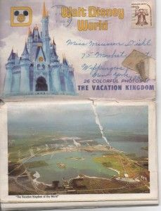 Check out this vintage 70's postcard book from WDW Resort ~ My Nanny sent to me