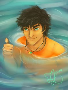 This is actually what I imagine Percy to look like... unlike the official art...<<< I HATE THE OFFICIAL!!!