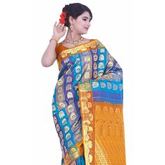 Buy Sudarshan Silks Multi Silk Saree by Sudarshan Silks, on Paytm, Price: Rs.7182?utm_medium=pintrest