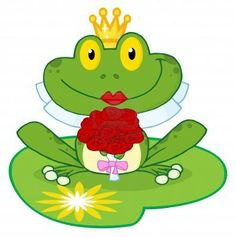 Bride Frog Cartoon Character On A Leaf