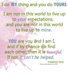 you are you and i am i and if by chance