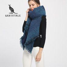 6ad668c97dd50 SAN VITALE Scarves for Women Shawls Winter Warm Scarf Luxury Brand Soft  Fashion Wraps Wool Cashmere