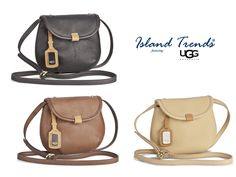 The Ugg Classic Mini Flap in Chamois/Honey, Auburn and Black/ Auburn at Island Trends: http://www.islandtrends.com/ugg-handbags-1214 #ugg #flapbag #islandtrends