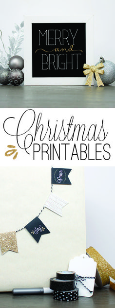 Gold and Black Christmas Printables by Paperelli