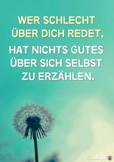 Wer schlecht über dich redet, hat nichts Gutes über sich selbst zu erzählen. Sprüche / Zitate / Quotes / Reflektion / reflektieren / Spiegel Love Me Quotes, Great Quotes, Qoutes, Funny Quotes, Word 3, Mixed Feelings, Live Love, True Words, True Stories