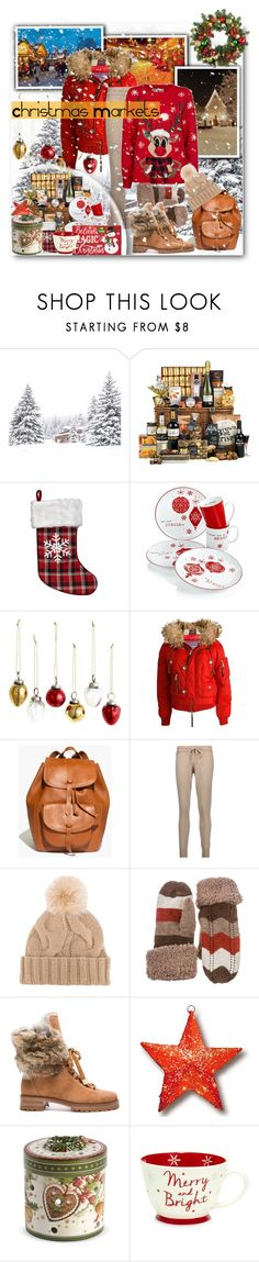 """If I were at a Christmas Market..."" by pomy22 ❤ liked on Polyvore featuring H&M, Dsquared2, Madewell, Chinti and Parker, Loro Piana, Alexandre Birman, National Tree Company, Villeroy & Boch, Improvements and Christmas"