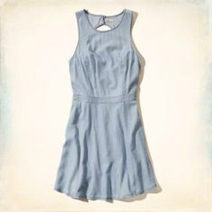 Chambray Skater Dress