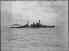 HMS Repulse steaming towards Singapore a few days before her sinking, December 1941
