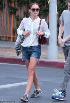 Hollywood mom: Natalie Portman, 33, was seen with her family as they headed out for lunch ...