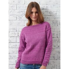 Bateau Sweater by Patons. Free pattern for classic sweater with simple shaping.