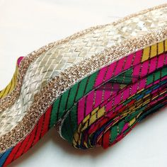 Multi Color Gota Ribbon  Gota Patti Ribbon  Gota by DesiFabrics
