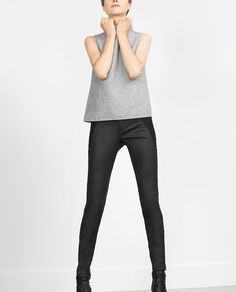 Image 2 of BIKER TROUSERS from Zara