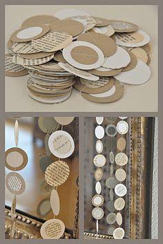 Guirnaldas de papel  -  Paper garlands  -  Guirlandes de papier