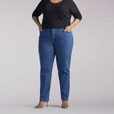 Lee Women's Side Elastic Jeans - Plus Size::30W:L