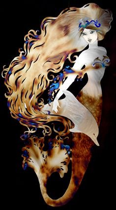 Mermaid with dolphin tiara