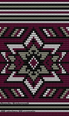 "The location where building and construction meets style, beaded crochet is the act of using beads to decorate crocheted products. ""Crochet"" is derived fro Tapestry Crochet Patterns, Crochet Stitches Patterns, Cross Stitch Patterns, Tribal Patterns, Bead Loom Patterns, Beading Patterns, Beaded Embroidery, Cross Stitch Embroidery, Mochila Crochet"