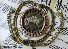 Madonna Enchanted our darling necklace Victorian mourning memento mori rhinestone one of a kind jewelry assemblage by madonnaenchanted on Etsy