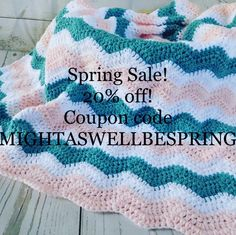 20% off your order with code MIGHTASWELLBESPRING happy shopping! Baby blankets and more!